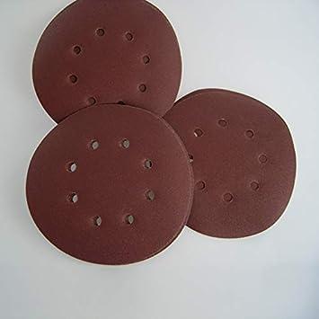 Color : Red W-Shuzhen-wj 50pcs 150mm Disques De Pon/çage 40 60 80 100 120 Ponceuse /À Sable Papier de Verre Huit Disque Disques De Sable Pistes De Disque De Pon/çage Prix de d/étail