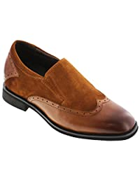 TOTO - X33514 - 3 Inches Taller - Height Increasing Elevator Shoes - Brown Lightweight Dress Shoes