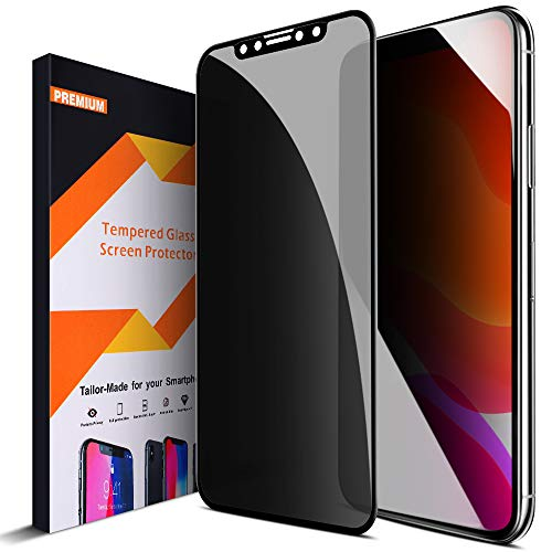 Intermerge for iPhone 11 Privacy Screen Protector Anti Spy Privacy Glass 4D Curve Edge to Edge Full Coverage Tempered Glass Film Anti Scratch Screen Protector, for Apple iPhone 11/ iPhone XR, 6.1Inch