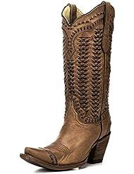 Corral Women's Sand Braided Shaft Boot