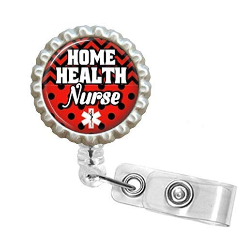 Marvelous Amazon Com Home Health Nurse Bottle Cap Retractable Badge Download Free Architecture Designs Scobabritishbridgeorg