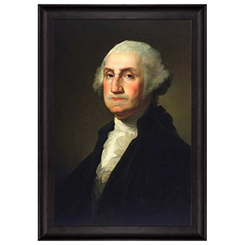 Portrait of George Washington by Gilbert Stuart (1st President of the United States) American Presidents Series Framed Art Print