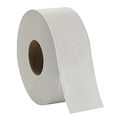 "Georgia Pacific Professional 12798 Jumbo Jr. Bathroom Tissue Roll, 9"" dia, 1000ft (Case of 8 Rolls)"