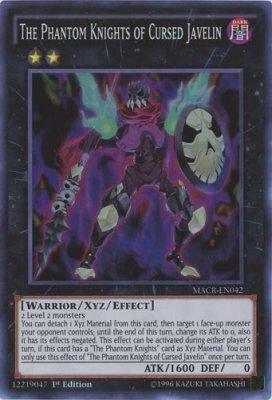 Yu-Gi-Oh / The Phantom Knights of Cursed Javelin (Super) / Maximum Crisis (MACR-EN042) / A English Single individual Card