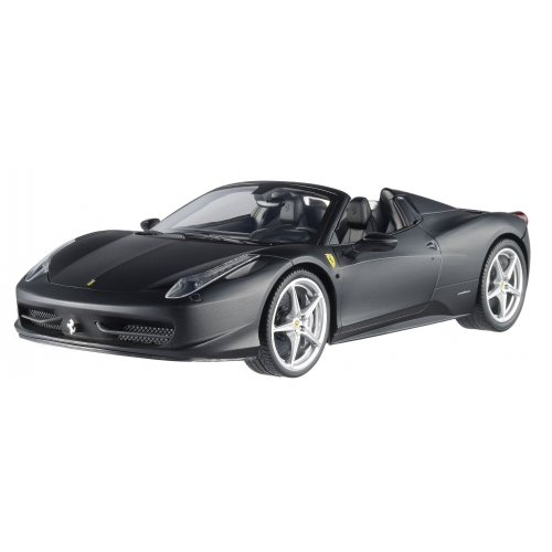 Hot wheels X5528 2012 2013 Ferrari Italia 458 Spider Matt Black 1/18 Diecast Car Model by Hotwheels