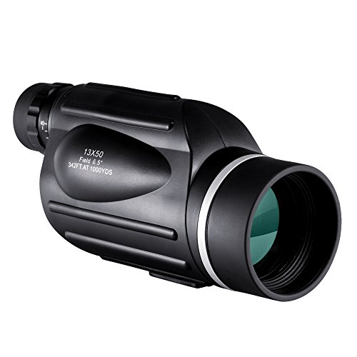 BNISE High Powered Monocular Scope with Reticle - Explorer 13X50 Bright and Clear Range of View - Simple Hand Focus - Waterproof, Fogproof - Telescope for Bird Watching, or Wildlife - Daytime Use