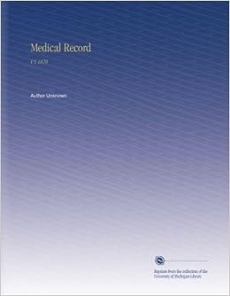 Book Medical Record: V.5 1870