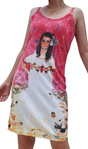 Raan Pah Muang Gustav Klimt Maeda Primavesi Spaghetti Strap Dress, X-Large