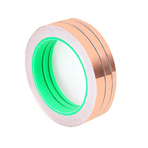 (Wolfride Pack of 3 Double-Sided Conductive EMI Shielding Copper Foil Tape for Stained Glass, Soldering, Electrical Repairs, Slug Repellent, Paper Circuits, Grounding (27.5 Yard/Each))