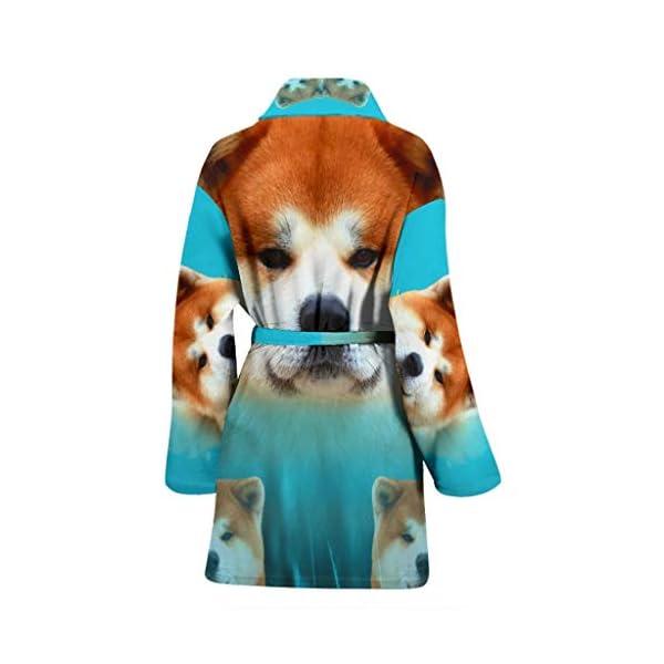 Pawzglore Cute Akita Dog Print Women's Bath Robe 2