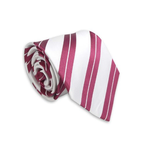 Landisun Mens Various Neckie White Tie 98M Red Silk Set Stripes Hanky Cufflinks rSrxZEq