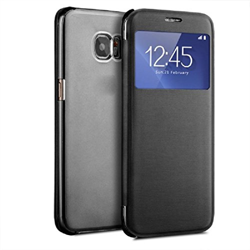 Price comparison product image For Galaxy S7 Case,  HP95(TM) Luxury Window View Flip Case Cover for Samsung Galaxy S7 (Black)