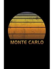 Monte Carlo: Wide Ruled Notebook Paper For Work, Home Or School. Vintage Sunset Note Pad Journal For Family Vacations. Travel Diary Log Book For Adults & Kids With 6 x 9 Inch Soft Matte Cover.