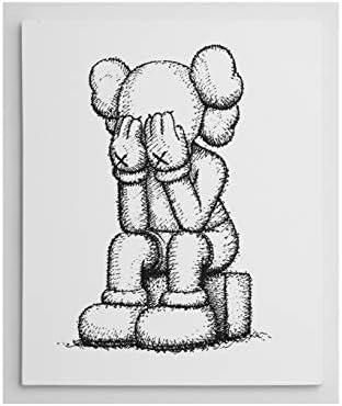 Amazon.com 16x19.9\u0027\u0027 Gallery Art Canvas KAWS x Sesame