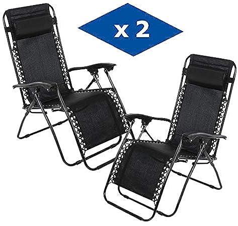 Tumbona reclinable Leisure Zone®, plegable, para jardín y camping: Amazon.es: Jardín