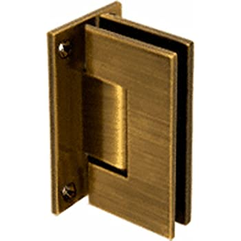 Crl Vienna 037 Series Antique Brass Wall Mount Shower Door