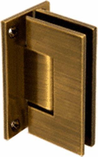 CRL Vienna 037 Series Antique Brass Wall Mount Shower Door Hinge ()