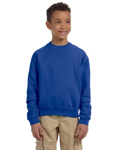 Jerzees - Youth Crewneck Sweatshirt, 562B, True Royal, L