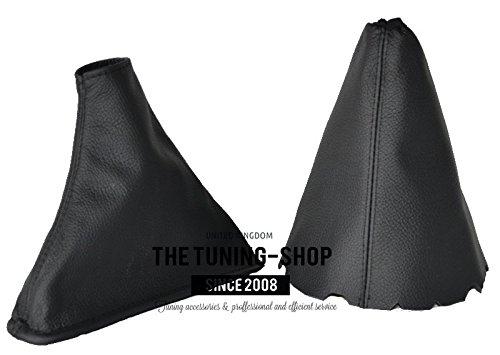 For Toyota Corolla E15 E150 2007-13 Shift /& E brake Boot Black Genuine Leather