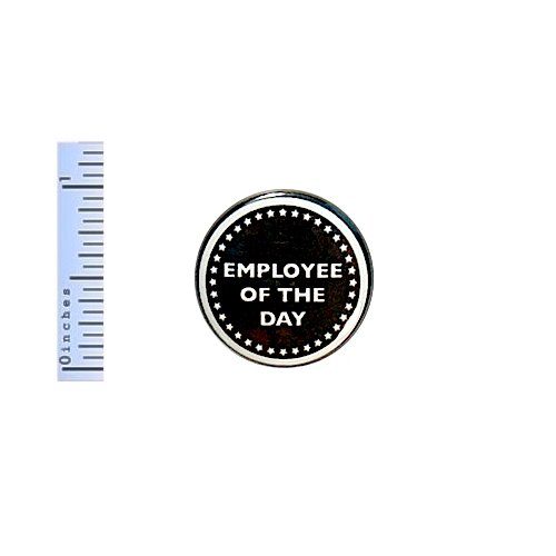 Funny Work Button Employee Of The Day Award Random Workplace Humor Joke Pin 1 Inch 17-5 (Best Funny Workplace Awards)