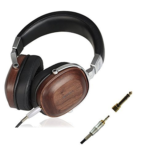 Freegoing Over Ear Headphones With In-Line Powerful Bass Music Wired Wooden Headset For Smart Phone,Tablets,Desktop