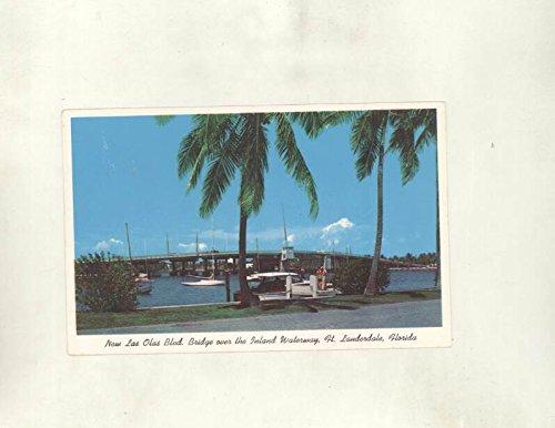 1961 Las Olas Bridge Inland Waterway Ft. Lauderdale FL ORIGINAL - Ft Los Lauderdale Olas