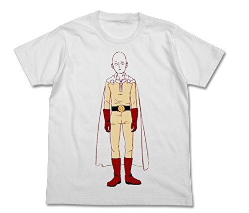 One punch man Saitama T-shirt White L size New From Japan F/S (Costume Store Near My Location)
