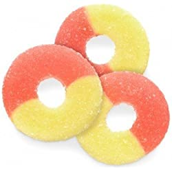 FirstChoiceCandy Albanese Gummi Rings (Strawberry-Banana, 2 LB)