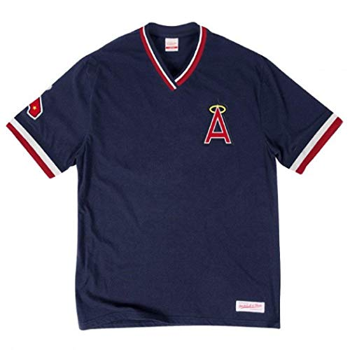 Mitchell & Ness Los Angeles Angels of Anaheim MLB Men's Overtime Win Vintage Tee 2.0 (Small)