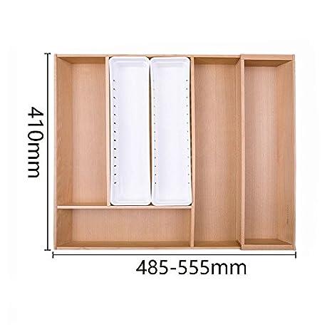 Organizador/cajón ampliable divisores de cubertería, vajilla, cocina Cajón caja de almacenamiento almacenamiento gratuito,C: Amazon.es: Hogar