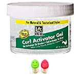 Long Aid Curl Activator Gel with Aloe Vera Extra-Dry 10.5 oz.with 2 Toothbrush Holder (1PCS)