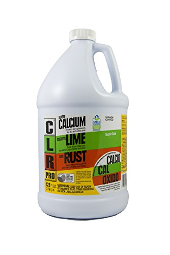 CLR Pro CL-4Pro Calcium, Lime and Rust Remover, 1 Gallon Bottle (Best Solution For Clogged Toilet)