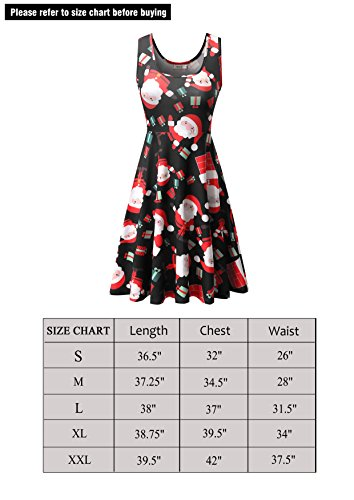 Dress Sleeveless Women's Halloween Claus Dress Flared Midi Line Santa A Malist Chrismas 9 n4BaxzBw
