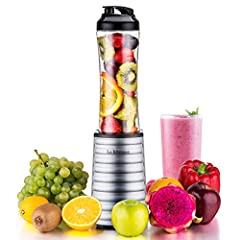 Specifications: -Voltage:120V 60Hz -Power rating: 300 watts  -Motor speed:12500 RPM -Cup size:18 ounce (550ml) -Materials: stainless steel blade and BPA free food-grade Tritan bottle and lidMore valuable information:  ✪Is it compact and light...