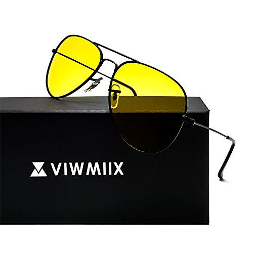 HD Night Vision Glasses for Driving Photochromic Polarized Anti-glare 100% UV400 Aviator Sunglasses for Men Women - Hd Sunglasses Vision Aviator