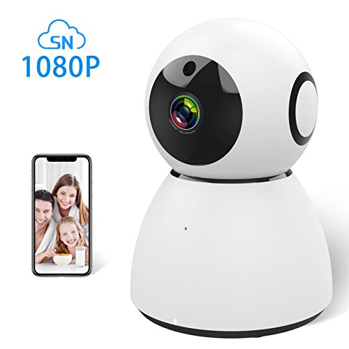 Ssnwrn 1080P IP WiFi Dome Camera Baby Monitor with Wireless IP Camera Security Surveillance System for Baby/Elder/Pet