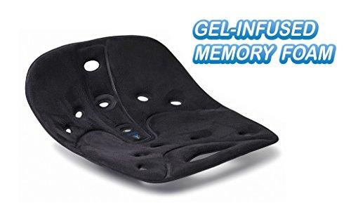 BackJoy Pro Gel Memory Foam Gel Back Support Lower Back P...