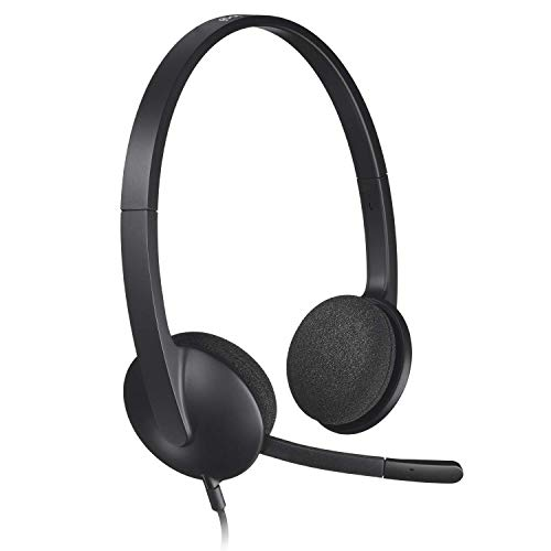 New Logitech USB Headset H340 Stereo USB Headset - Compatible with Windows and Mac - Bulk Packaging