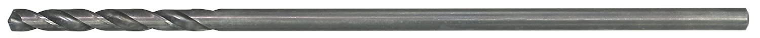 Pack of 6 135 Degree Split Point Spiral Flute Black Oxide Finish Round Shank 9//64 Size Drillco 1200 Series High-Speed Steel Aircraft Extension Drill Bit