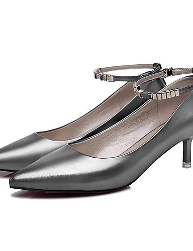 GGX/Damen Schuhe Patent Leder Frühling/Sommer/Herbst/Winter Heels Office & Karriere/Casual Stiletto schwarz/silber black-us7.5 / eu38 / uk5.5 / cn38