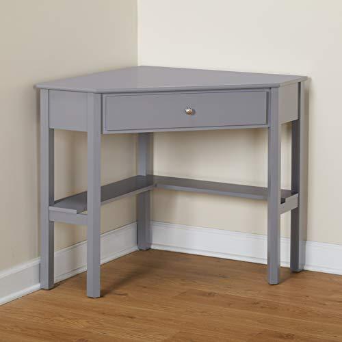 Target Marketing Systems Ellen Corner Desk with One Drawer and One Storage Shelf (Set Depot Home Vanity)