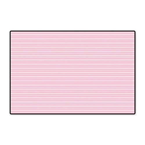 Geometric Door Mats Area Rug Feminine Horizontal Stripes in Artistic Soft Colors Parallel Lines Design Floor mat Bath Mat 20