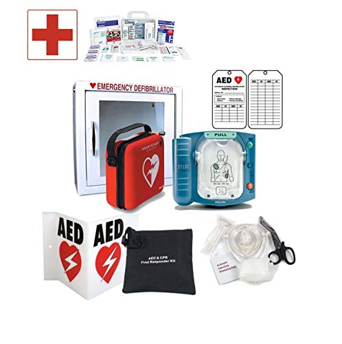 PHILIPS HeartStart Defibrillator with Alarmed Cabinet and Accessories for  Canadian Business or Institution