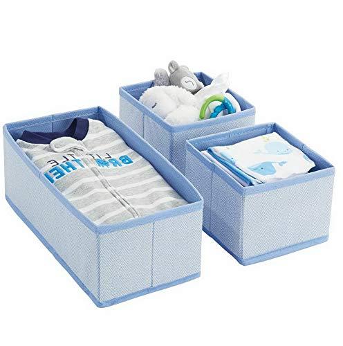 Hebel Soft Fabric Dresser Drawer and Closet Storage Organizer | Model DRSSR - 403 | Set of 6