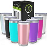 CHILLOUT LIFE 20 oz Stainless Steel Tumbler with Lid & Gift Box | Double Wall Vacuum Insulated Travel Coffee Mug with...
