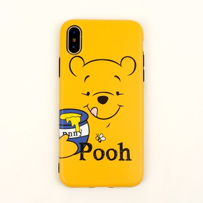 the latest 83d5c 61438 Ultra Slim Soft TPU Yellow Winnie the Pooh Bear Case for iPhone X iPhoneX  Shockproof Bling Glitter Shiny Smooth Disney Cartoon Cute Lovely Stylish ...