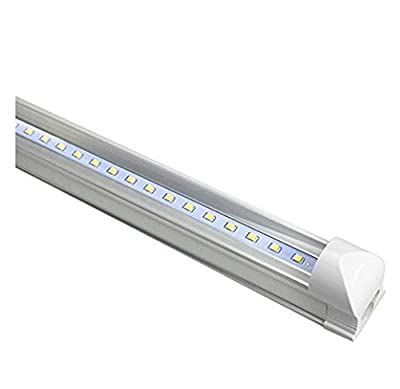 CIDASXL integrated T8 LED lamp is a 4 foot 48 inch 18W integrated tube 96pc LED, 3000K color temperature, 2000 lumens, 50000 hours! LED light, transparent cover, double-sided connection (25PACK)