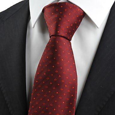 FYios Comprobar rojo escarlata clásico patrón de Borgoña hombres ...