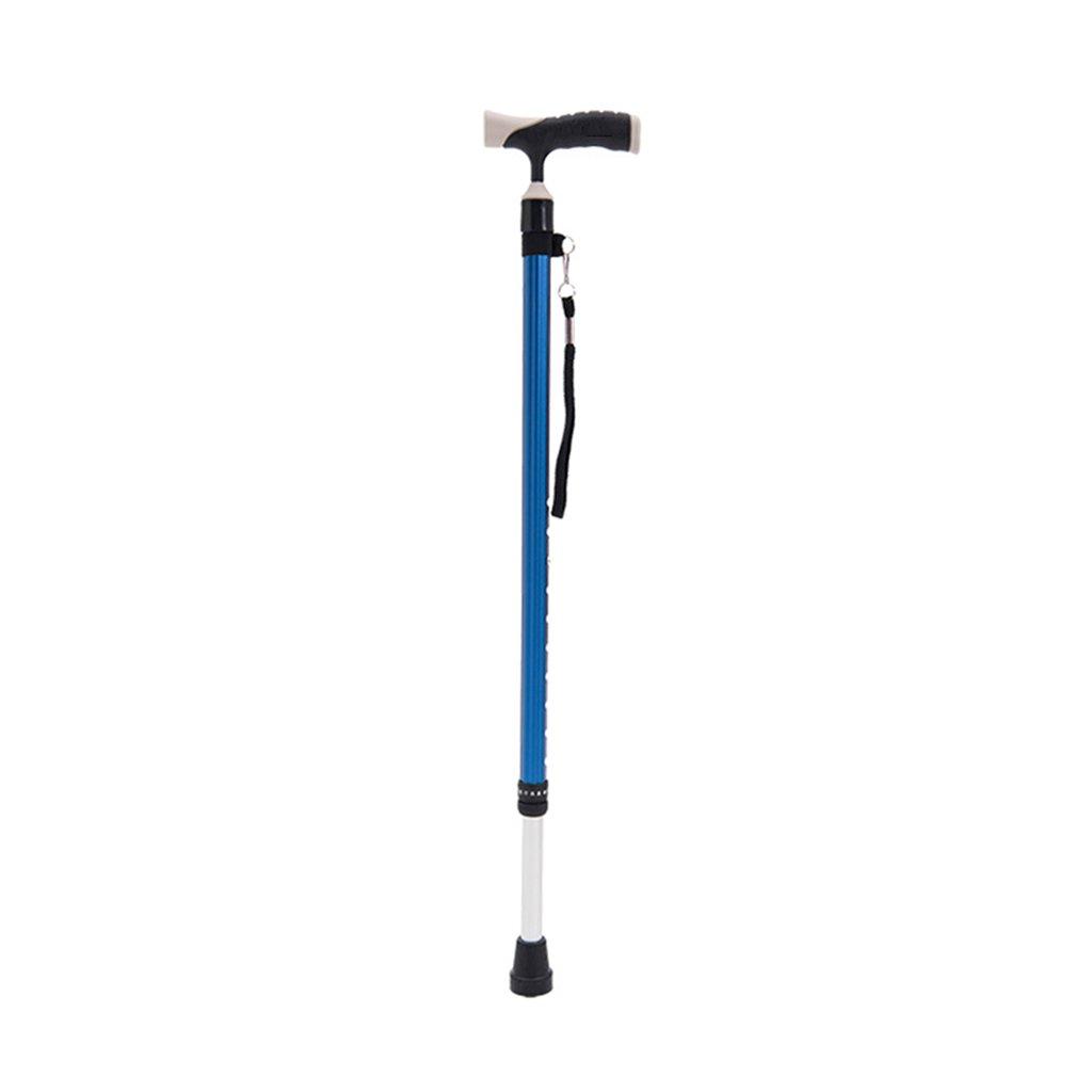 LIZHIQIANG 調整可能な松葉杖 - スリップ老人杖 - アルミニウム合金歩行杖障害者の杖、行動補助器具 (色 : Blue)  Blue B07FBPD551