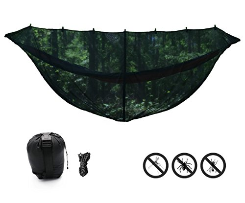 "Price comparison product image KING OUTFITTERS JUNGLER 11'6"" BUG NET. LARGEST Hammock Bug Net for Diagonal Lay. SECURITY from Bugs and Mosquitoes [Jungle Survival Gear]"